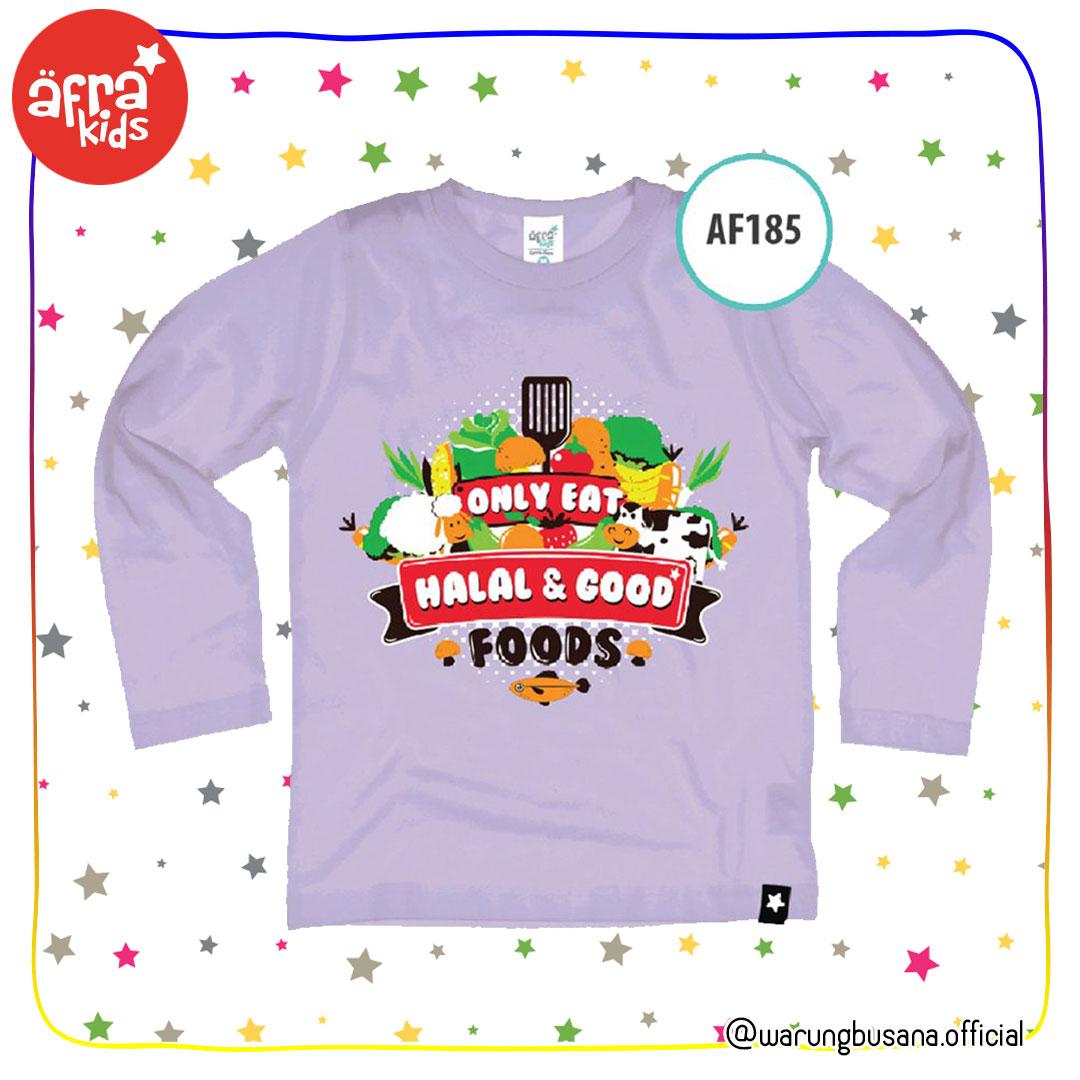 Afrakids Kaos Anak AF185 Only Halal&Good Food