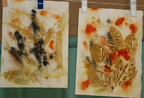 Ecoprints on Paper