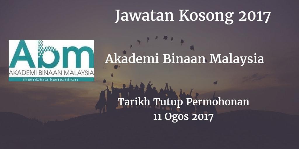 Jawatan Kosong ABM Selangor 11 Ogso 2017