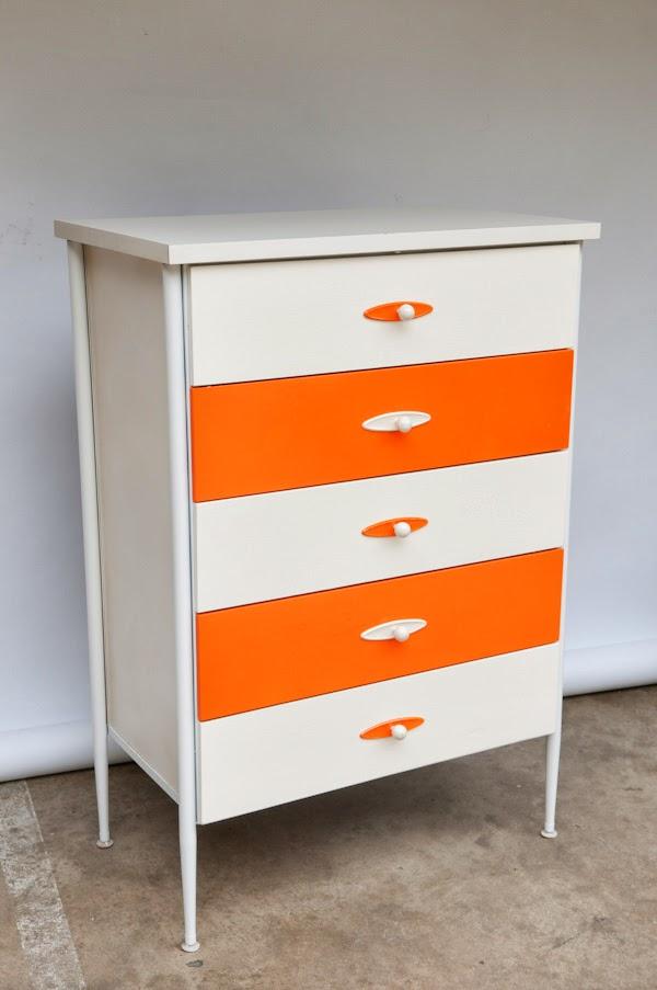 Heygreenie Vintage 60 S Modern Highboy Dresser 5 Drawer