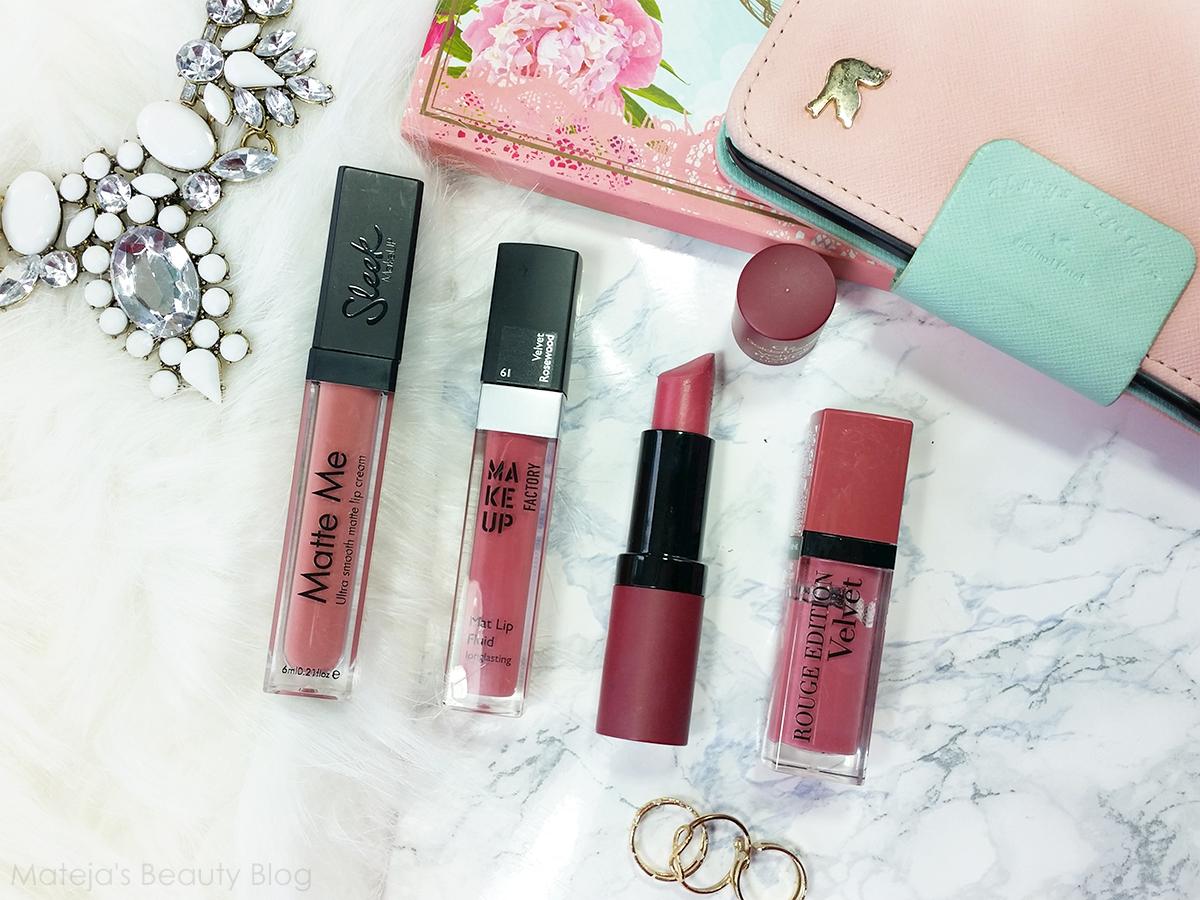 Makeup Factory Mat Lip Fluid 61 Velvet Rosewood - Mateja's Beauty Blog