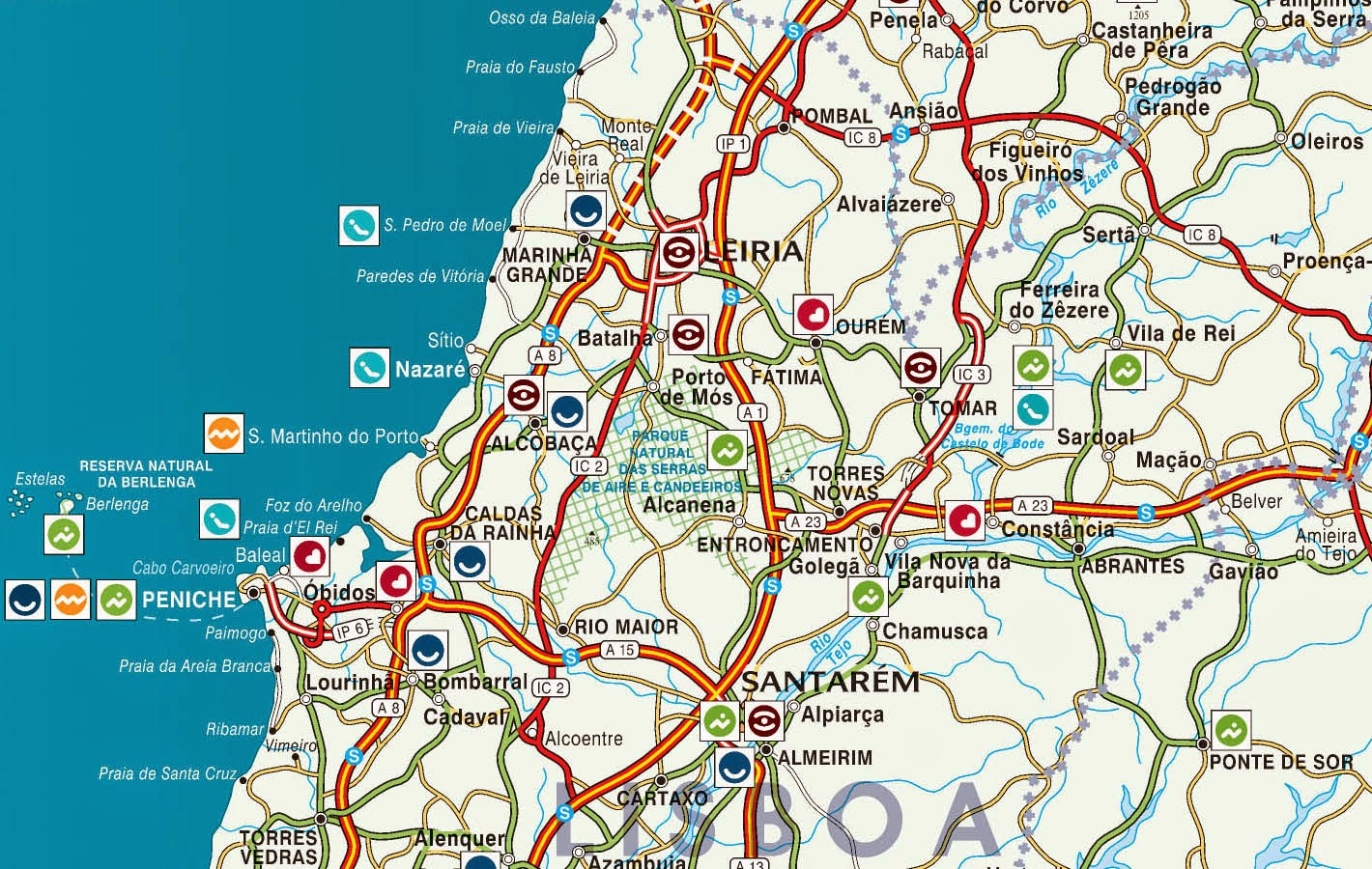 mapa portugal centro Mapas de Nazaré   Portugal | MapasBlog mapa portugal centro