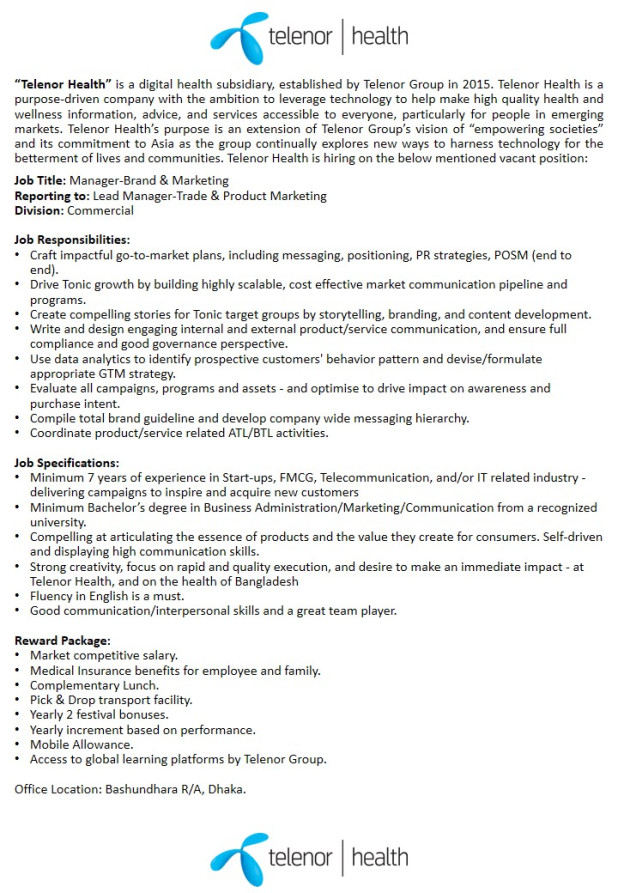 Grameenphone new job circular 2019