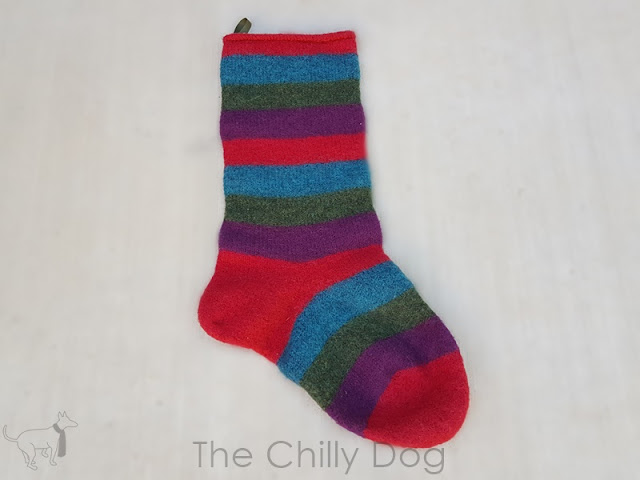 Knit Pattern For Striped Christmas Stocking : The Chilly Dog