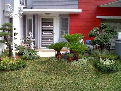 taman rumah minimalis  untuk rumah type 65