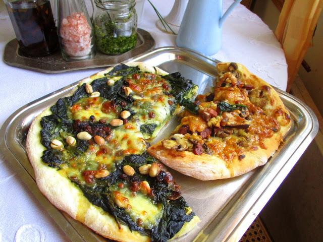 spenótos pizza