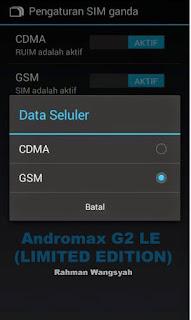 Cara Internetan dengan kartu GSM di Andromax G2 LE