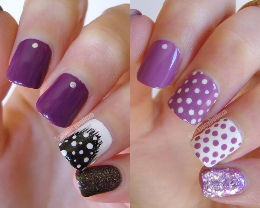 manicuras y belleza manicuras f ciles y r pidas nail art en violeta x2. Black Bedroom Furniture Sets. Home Design Ideas