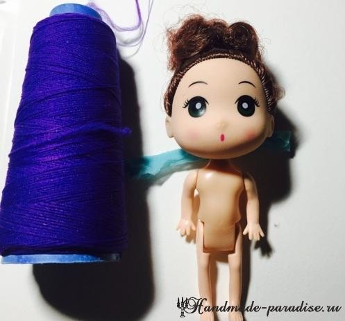 Наряд ФЕИ из капрона и проволоки для куклы (8)
