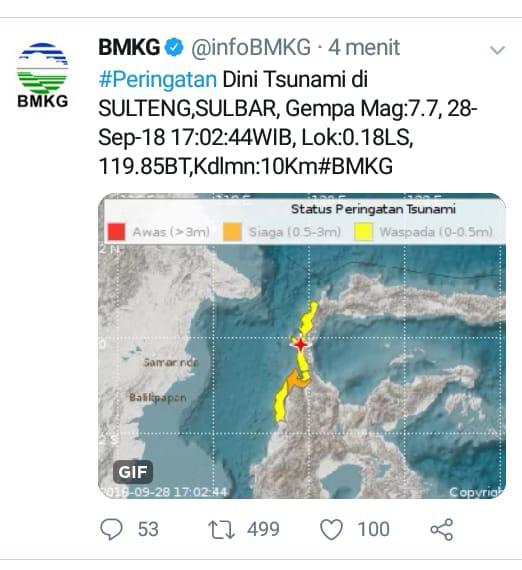 Gempa Berkekuatan 7.7 SR di Donggala Terasa di Soppeng