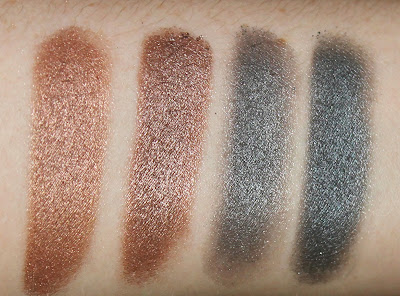 Rimmel Magnif'Eyes Magnifeyes Eye Contouring Palette Eyeshadow Grunge Glamour 003 review urban decay naked toasted gunmetal dupe comparison swatch swatches