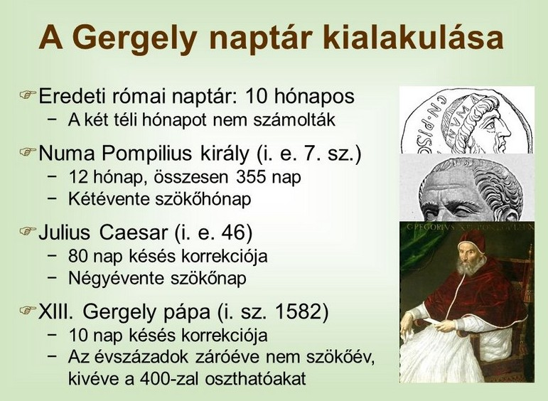 Gazda Praktikum: A Gergely-naptár