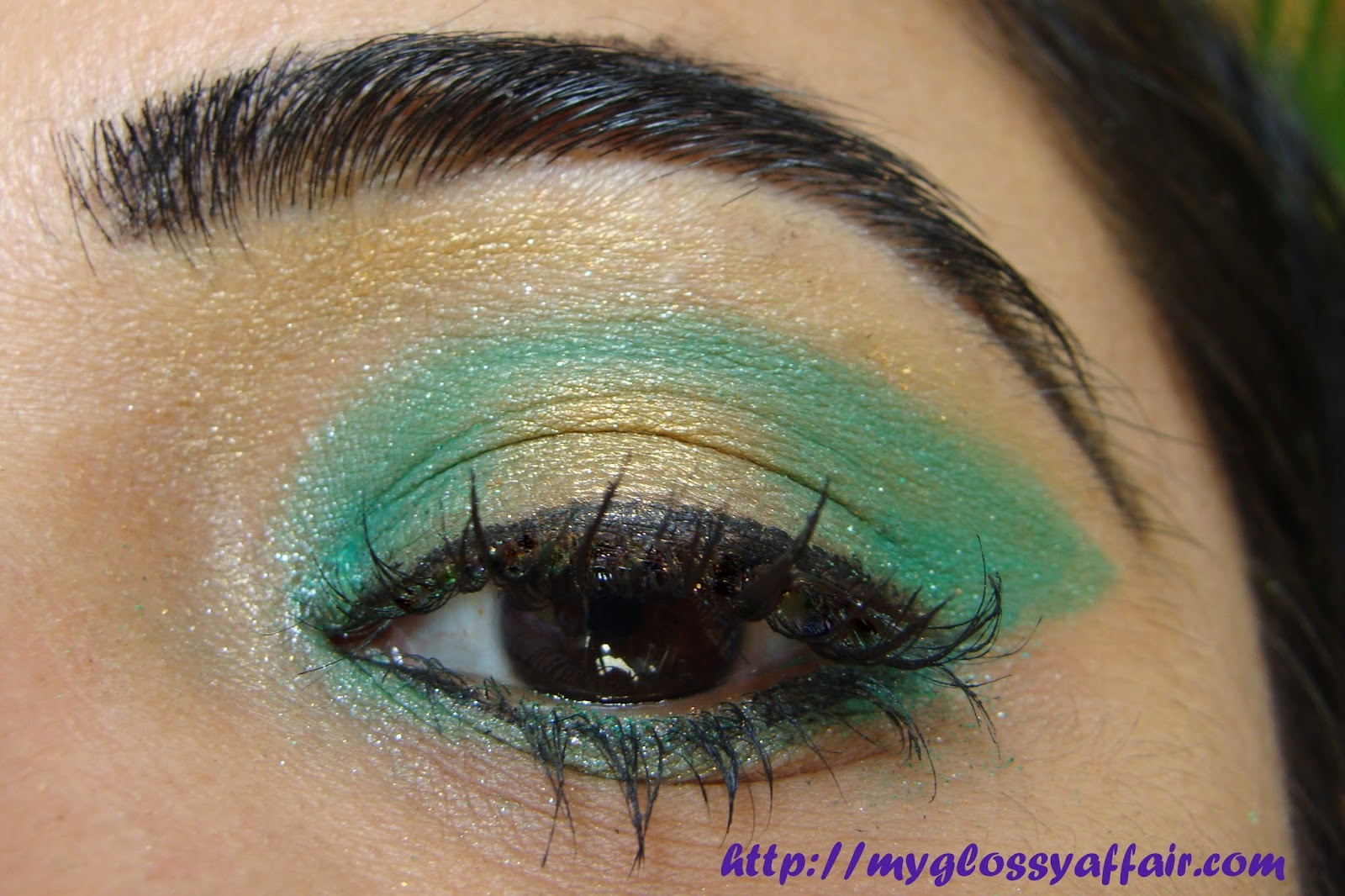 Green Gold Eye Makeup