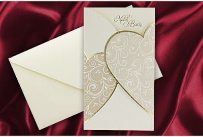 Carte d'invitation mariage rouge