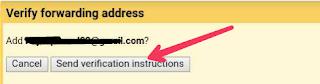 Send verification code to gmail