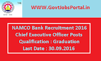NAMCO Bank Recruitment 2016 for Chief Executive Officers Apply Here