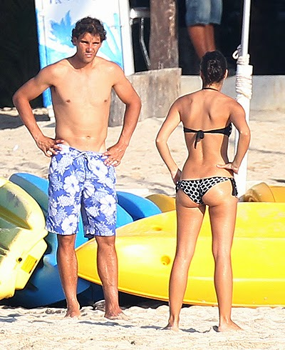 Rafael Nadal and Maria Perello in Mexico