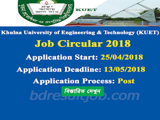KUET Professor Recruitment Circular 2018
