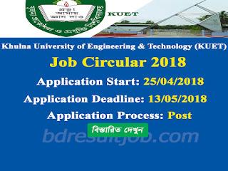 KUET Professor Recruitment Circular 2018