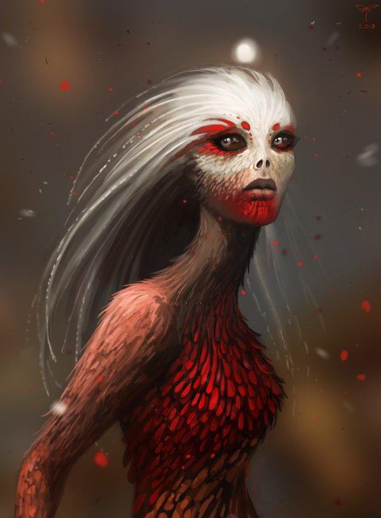 Sandra Duchiewicz telthona deviantart ilustrações fantasia sombria games demônios