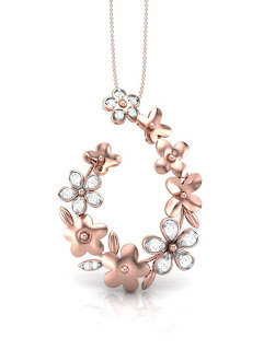 The House of Diamonds 18KT Rose Gold and Diamond Pendant for Women