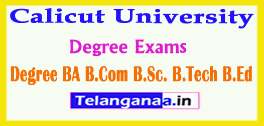 Calicut University Degree Exams Results 2018