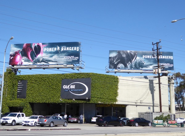 Power Rangers movie billboards