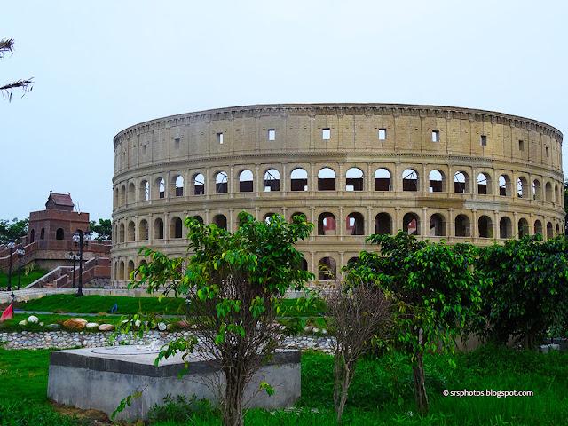 Replica of Colosseum (Rome) at Eco Tourism Park, Kolkata