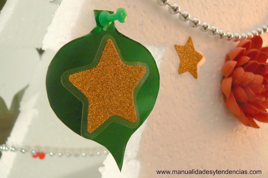 adorno de Navidad de papel charol