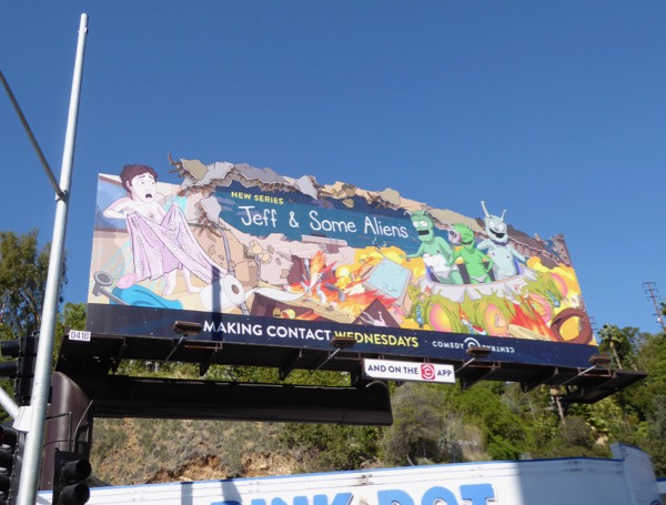 Jeff and Some Aliens series billboard