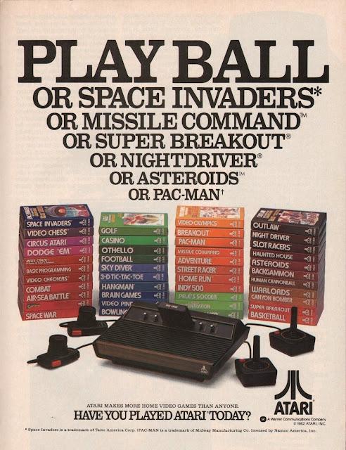 Antiguos anuncios de Atari