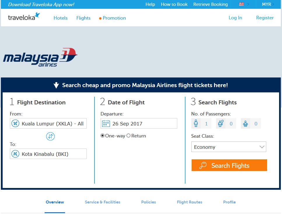 Cara Mudah Booking Tiket Flight Malaysia Airline