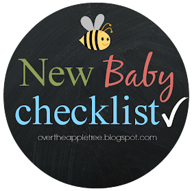 New Baby Checklist {Over The Apple Tree}