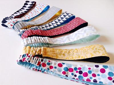 Kolorowe opaski z bawełny dla dziewczyn
