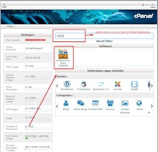 Instal wordpress melalui cpanel hosting