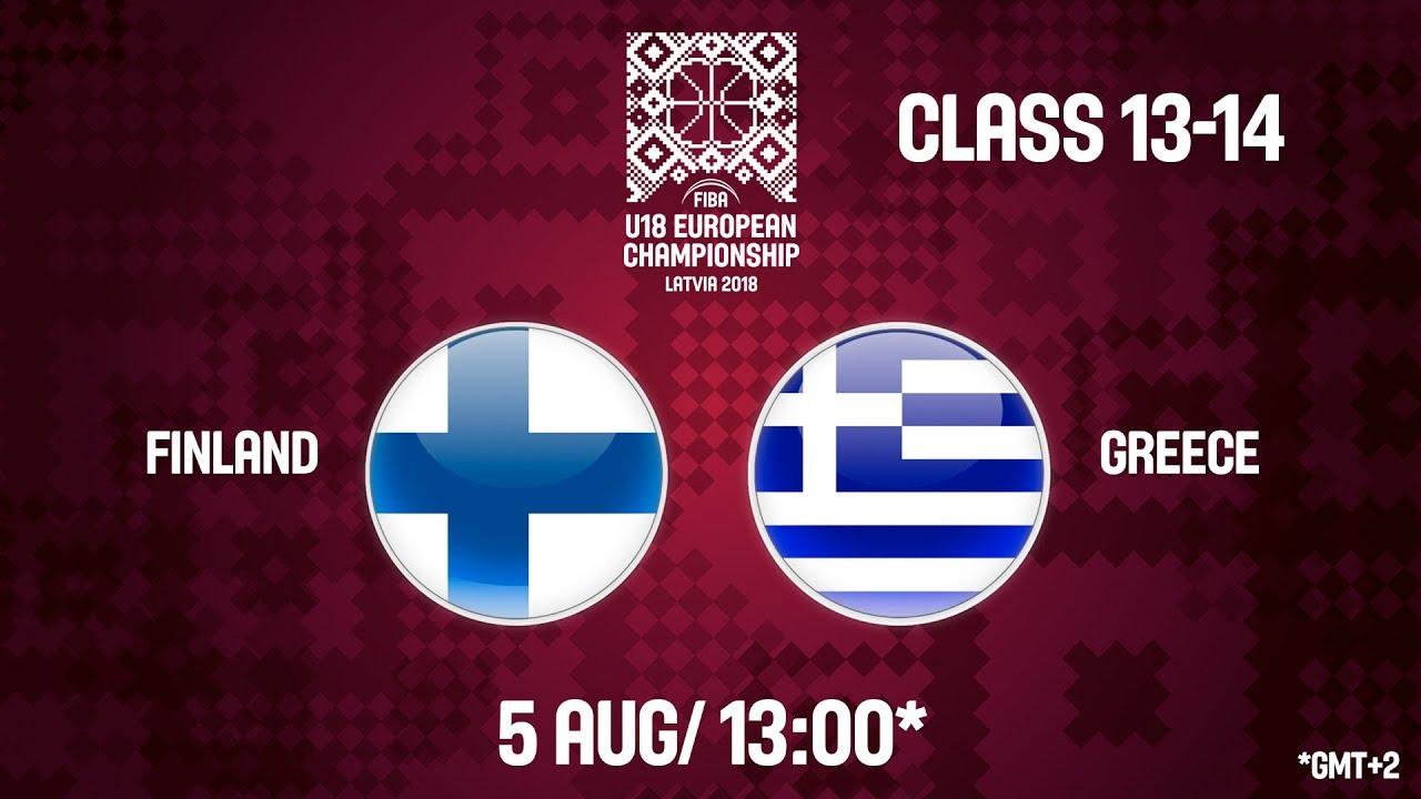 Φινλανδία - Ελλάδα ζωντανή μετάδοση στις 14:00 από την Λετονία, για το Ευρωπαϊκό Εφήβων (Θέσεις 13-14)