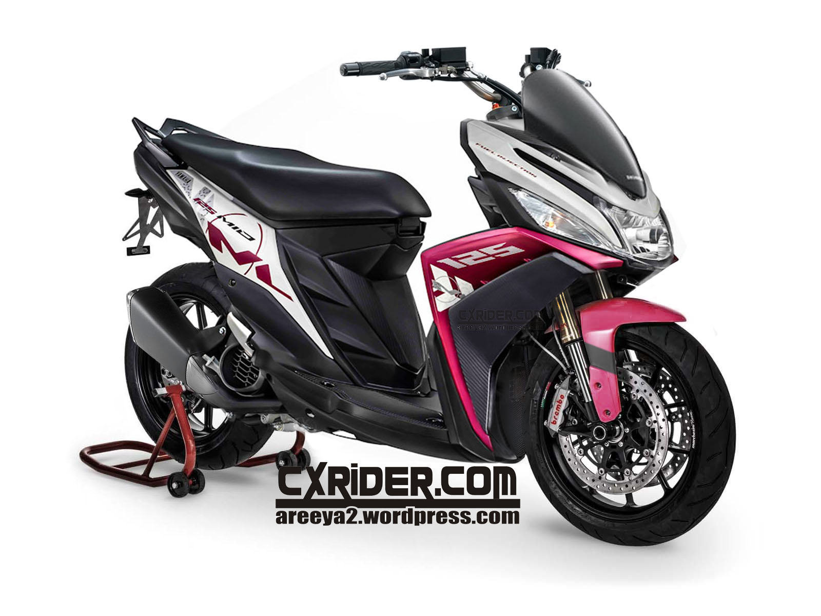 modifikasi yamaha mio m3 125 blue core terkeren
