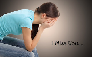 girl crying i miss you photo
