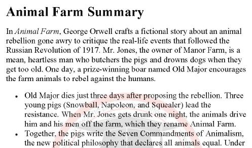 an overview of the enlightening story animal farm by george orwell 12 things you probably didn't know about animal farm  the book was shaped  by orwell's experience in the spanish civil war  totalitarian propaganda can  control the opinion of enlightened people in democratic countries.