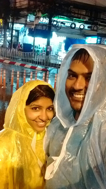 Raining Time Selfie of a Couple