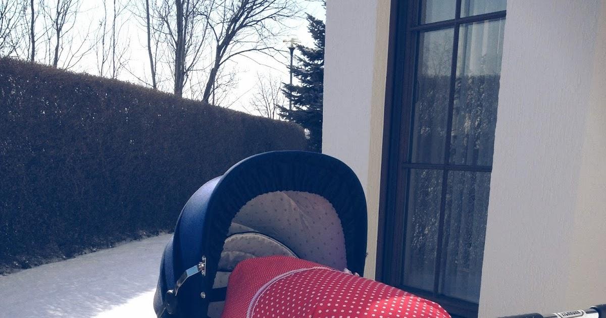 rot mit weissen punkten ein loblied auf unseren eichhorn kinderwagen. Black Bedroom Furniture Sets. Home Design Ideas