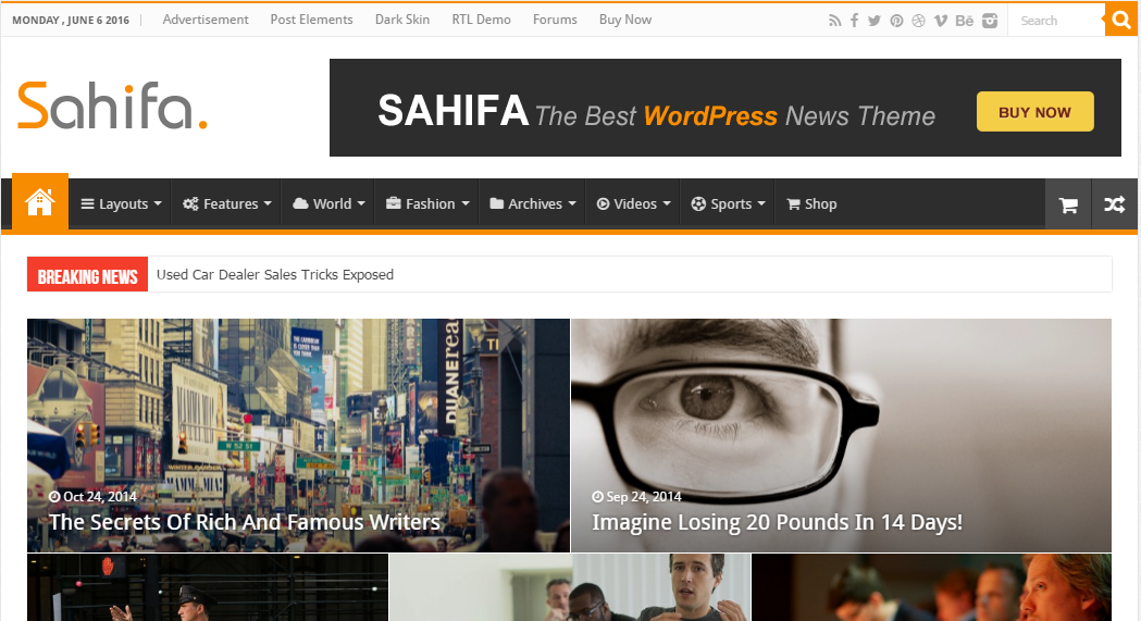 Image result for sahifa theme