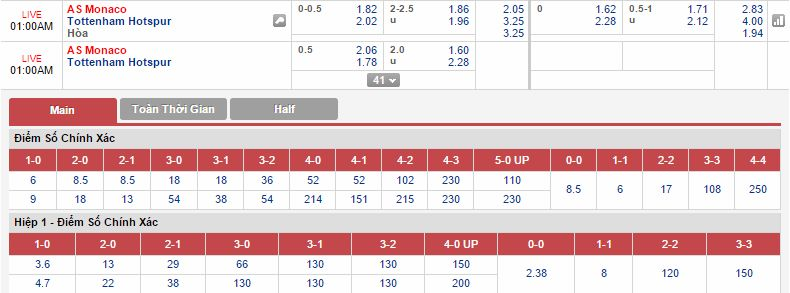 Monaco vs Tottenham link 12bet