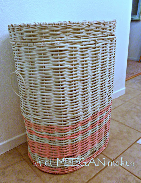 DIY Beach Striped Hamper