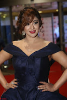 Payal Ghosh aka Harika in Dark Blue Deep Neck Sleeveless Gown at 64th Jio Filmfare Awards South 2017 ~  Exclusive 100.JPG