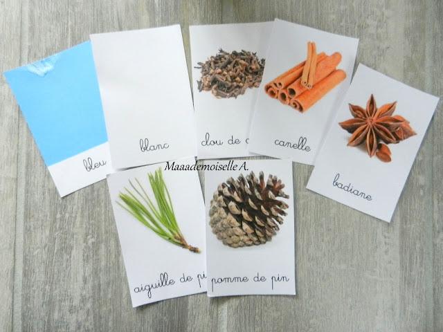 || Table des saisons : L'avent et Noël - Cartes de nomenclature