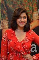 Mannara Chopra in deep neck Short red sleeveless dress Cute Beauty ~  Exclusive Celebrities Galleries 023.JPG
