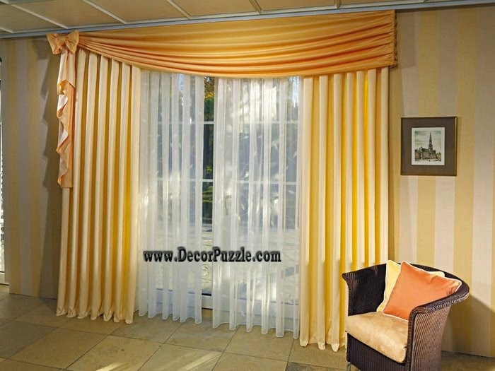 Modern Yellow Curtain Styles Designs 2017 For Living Room