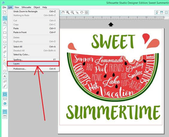 layers function, Silhouette Studio designer edition tutorials, Silhouette Design Studio tutorials, layers tool, silhouette tutorial