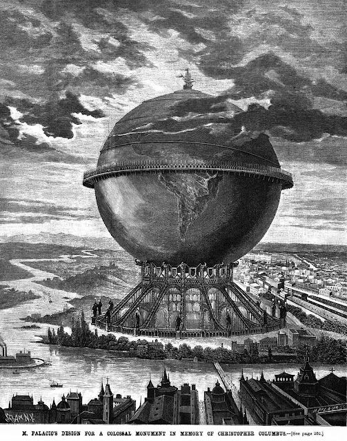 an 1890 proposed monument to Christopher Columbus, large illustration